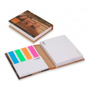 ECO Adhesive note pads in hardcover 80x110 mm