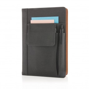 Notebook with phone pocket