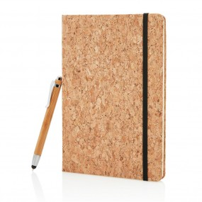 Eco A5 notebook with bamboo pen