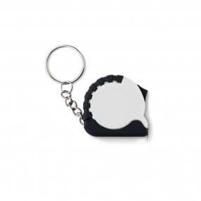 Small measuring tape key ring