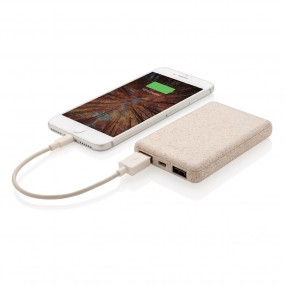 Wheat Straw 5000 mAh Pocket Powerbank